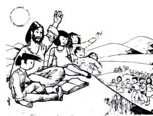 Los ninos van donde Jesus