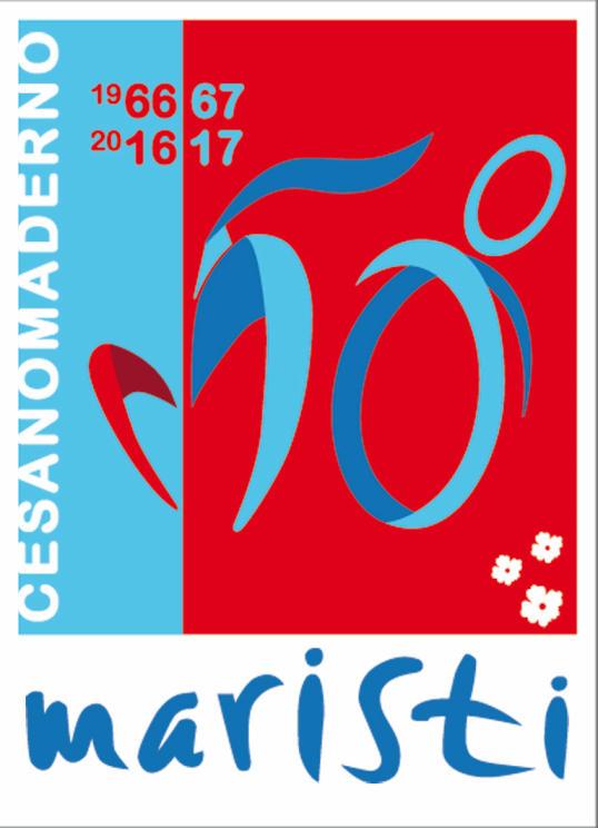 logo del 50esimo dei Fratelli Maristi a Cesano