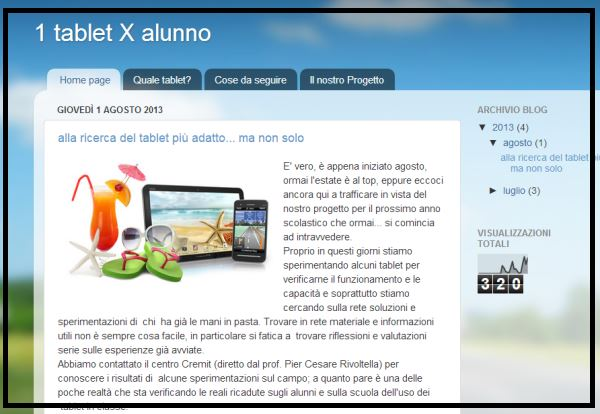 1tablet x alunno